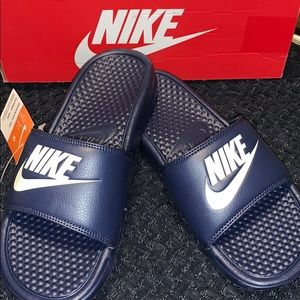 Nike Navy Slides